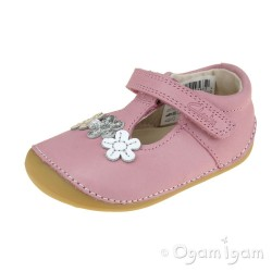Clarks Tiny Sun Infant Girls Pink Shoe