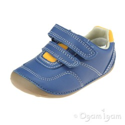 Clarks Tiny Dusk Infant Boys Blue Shoe