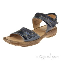 Josef Seibel Debra 19 Womens Denim Open Toe Sandal