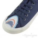 Joules Coast Shark Boys Navy Canvas Shoe