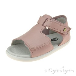Bobux Mirror Girls Seashell Pink Open-Toe Sandal