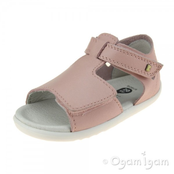 Bobux Mirror Girls Seashell Pink Open-Toe Sandal