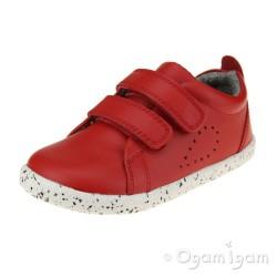 Bobux Grass Court Girls Boys Red Shoe