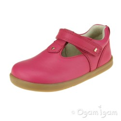 Bobux Louise Girls Strawberry Pink T-bar Shoe