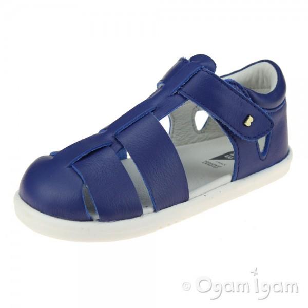 Bobux Tidal Boys Girls Blueberry Blue Sandal