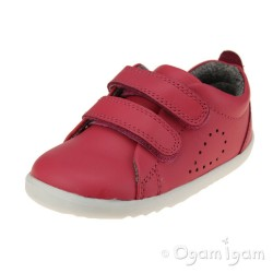 Bobux Grass Court Boys Girls Strawberry Shoe