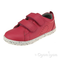 Bobux Grass Court Girls Boys Strawberry Shoe