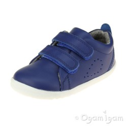 Bobux Grass Court Boys Girls Blueberry Blue Shoe