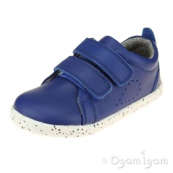 Bobux Grass Court Girls Boys Blueberry Blue Shoe