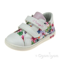 Primigi 5403500 Girls White Bianco Multi Shoe