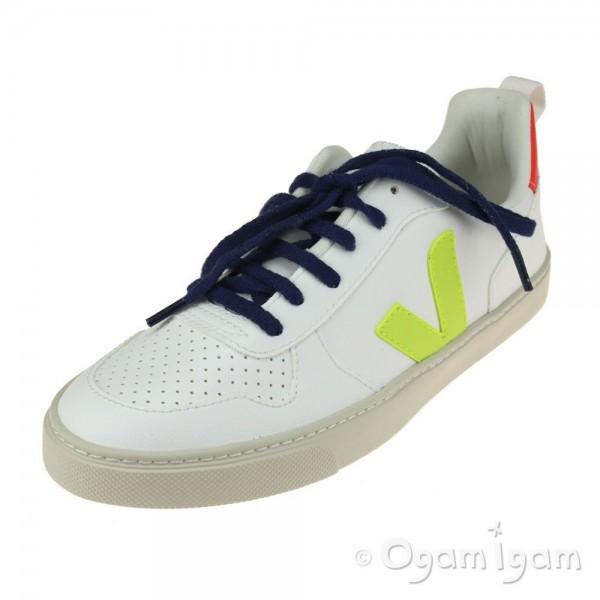 Veja V-10 Lace Boys Girls White Fluo Orange Trainer