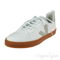 Veja V-10 Lace Boys Girls White Gum Sole Vegan Trainer