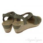 Rieker 6242954 Womens Forest Green Sandal