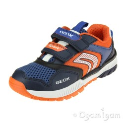 Geox Tuono Boys Navy-Orange Trainer