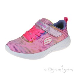 Skechers Go Run Shimmer Speeder Girls Light Pink-Multi Trainer