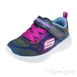 Skechers Go Run Shimmer Speeder Infant Girls Navy-Multi Trainer