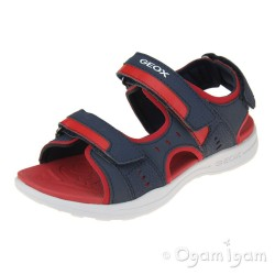 Geox Vaniett Boys Navy-Red Sandal