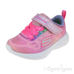 Skechers Go Run Shimmer Speeder Infant Girls Light Pink-Multi Trainer