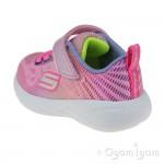 Skechers Go Run Shimmer Speeder Infant Girls Light Pink-Multi Trainer