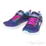 Skechers Go Run Shimmer Speeder Girls Navy-Multi Trainer