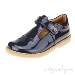 Froddo G3140099 Girls Blue 014 T-bar Shoe
