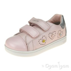 Geox DJRock Girls Light Rose Pink-Silver Shoe