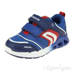 Geox Dakin Boys Royal Blue-Red Trainer