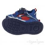 Geox Dakin Boys Royal Blue-Red Trainer