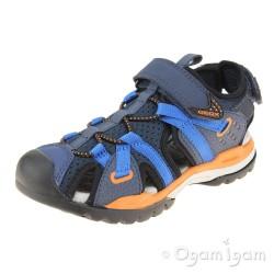 Geox Borealis Boys Navy-Orange Sandal