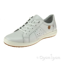 Josef Seibel Caren 01 Womens Weiss White Lace-up Shoe