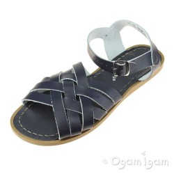 Salt-Water Retro Womens Navy Sandal