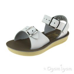 Salt-Water Surfer White Boys Girls White Sandal