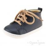 Shoo Pom Bouba Veg Infant Boys Navy Zip-up Shoe