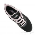 Skechers Bobs Squad SummerHaze Womens Black-Pink Trainer