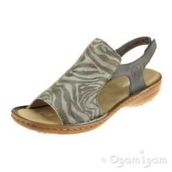 Rieker 6084042 Womens Cenere Taupe Sandal
