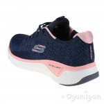 Skechers Solar Fuse Brisk Escape Womens Navy-Pink Trainer