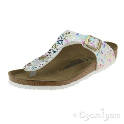 Birkenstock Gizeh Kids Confetti Girls White Sandal