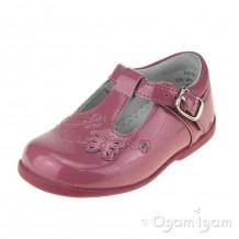 Start-rite Sunshine Girls Dusty Pink Glitter Patent Shoe