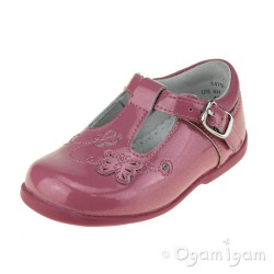 Start-rite Sunshine Girls Dusty Pink Glitter Patent Shoe