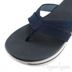 Skechers Go Walk Sun Kiss Womens Navy Toe-post Sandal