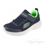 Skechers Dynamight Vordix Boys Navy-Lime Trainer