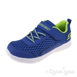 Skechers Comfy Flex Boys Royal Blue Trainer