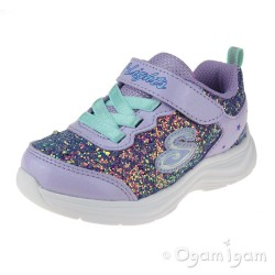Skechers Glimmer Kicks GlitterNGlow Junior Girls Lavendar-Aqua Trainer