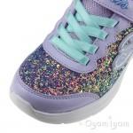 Skechers Glimmer Kicks GlitterNGlow Senior Girls Lavendar-Aqua Trainer