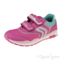 Geox Pavel Girls Fuchsia-Pink Trainer