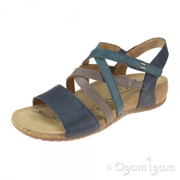 Josef Seibel Natalya 10 Womens Dark Blue Sandal