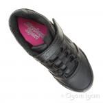 Skechers Spirit Sprintz Boys Black School Shoe