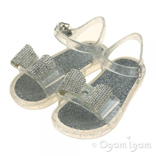 Lelli Kelly Bow Sandal Girls Ghiaccio Clear Sandal