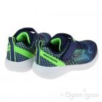 Skechers Go Run 600 Baxtux Infant Boys Navy-Lime Trainer