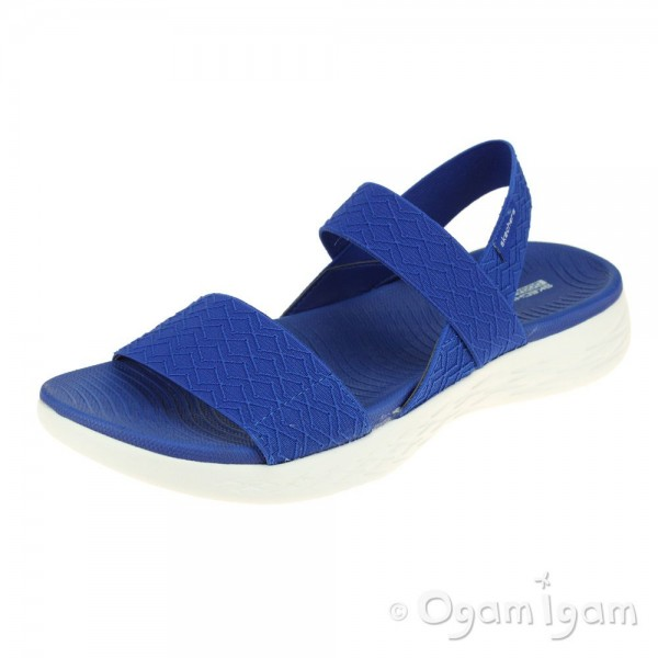 Skechers OnTheGo 600 GirlsTrip Womens Blue Sandal